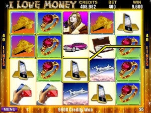 I Love Money rieles juego