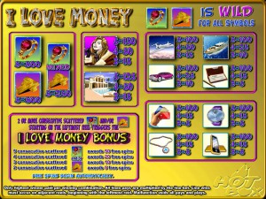 I Love Money pantalla de ayuda